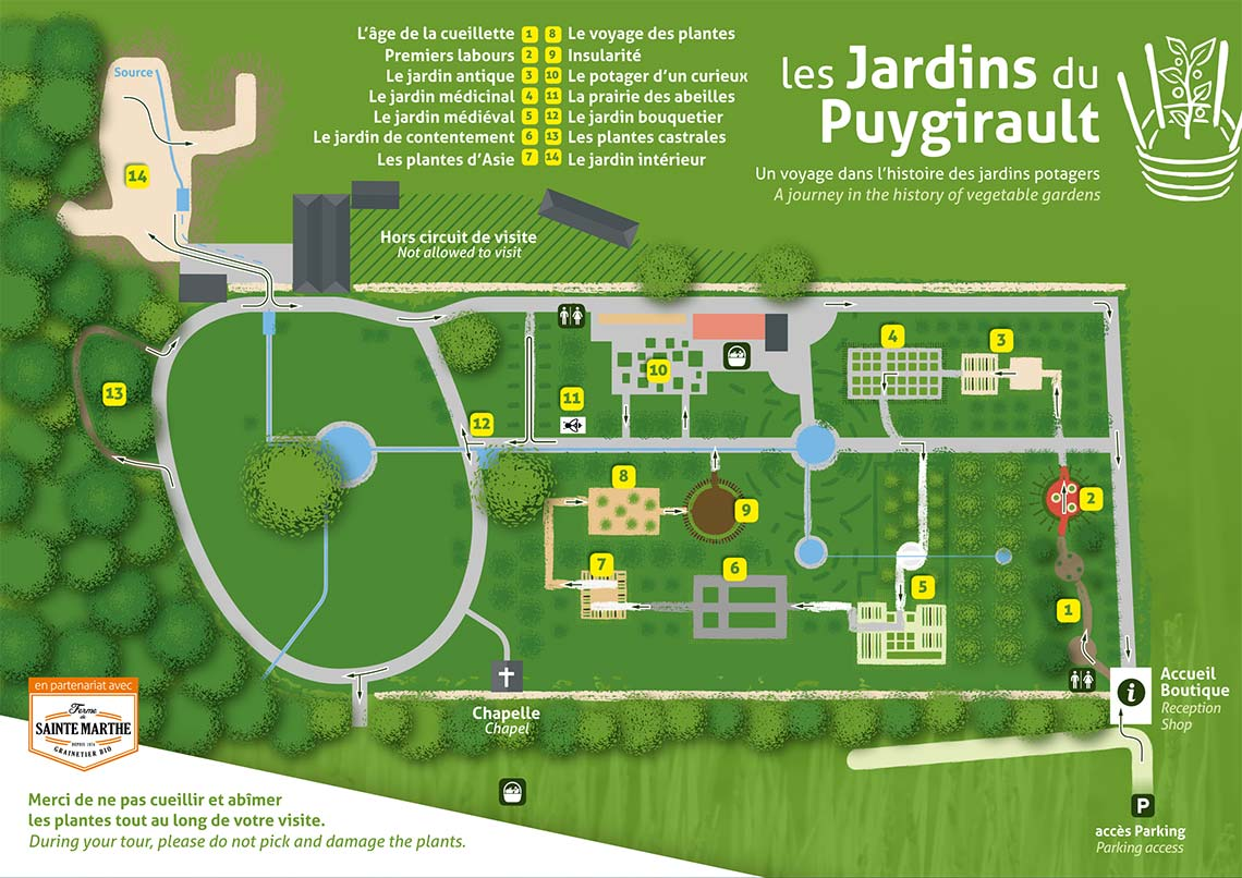 plan of puygirault gardens