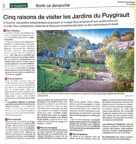 5 reasons to visit the Puygirault Gardens